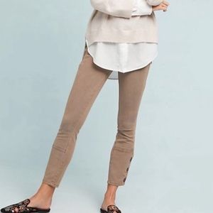 Anthropologie Ankle Button Pants